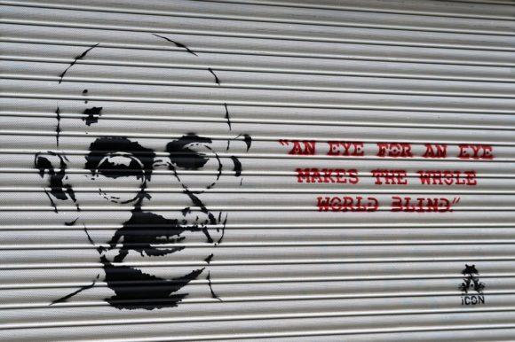 Street Art zu Gandhi