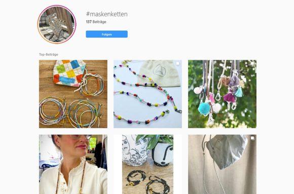 Maskenketten auf Instagram
