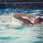 Schwimmbrille beim Schwimmen