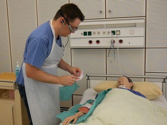 Pflegebrille - Anweisungen Wundversorgung