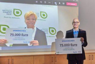 Apollo - 2020 Spende an Deutsche Diabetes Hilfe