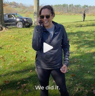 Die designierte US-Vizepräsidentin Kamala Harris mit Mykita-Brille auf Instagram