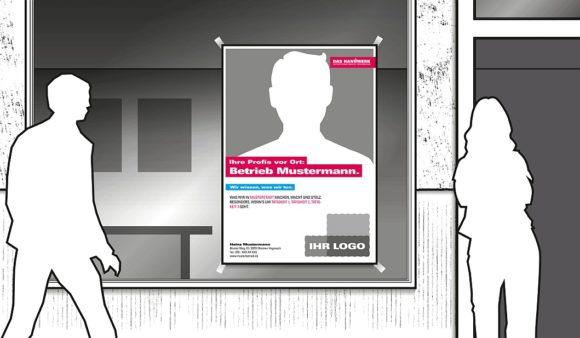 Handwerk Werbeportal Plakat Schaufenster