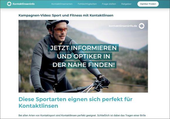 Kontaktlinsen-Digital-Kampagne 2020: Video Sport vom KGS