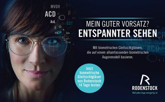 """Motiv aus der Rodenstock-Kampagne """"Gute Vorsätze """" 2021"""
