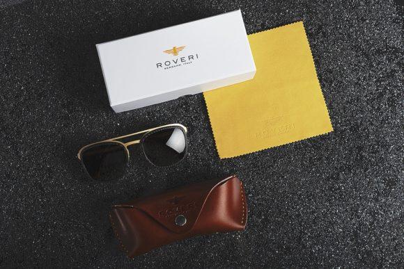 Roveri Eyewear - Sonnenbrille, Etui und Tuch