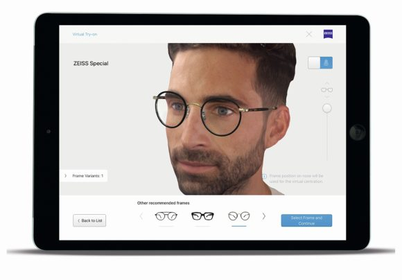 Zeiss Visufit 1000 Virtual Try on