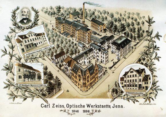Zeiss 175 Jahre: Jubiläums-Postkarte