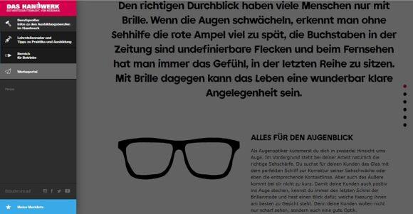 Augenoptiker Handwerk.de Website