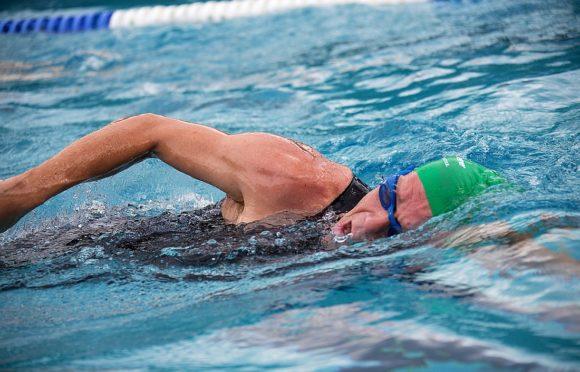 Hajo Schumacher mit Schwimmbrille