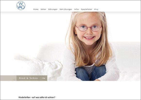 Kinderoptometrie WVAO - Website Kind und Sehen