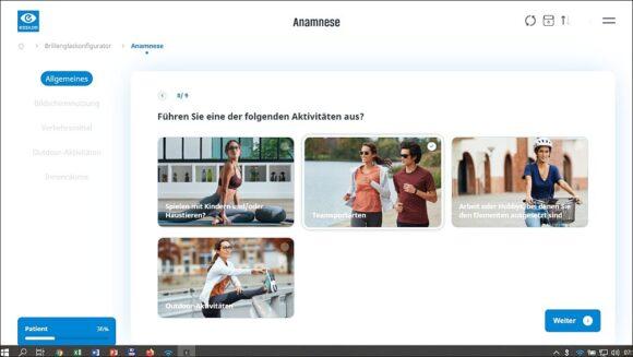 App Essilor Companion Anamnese